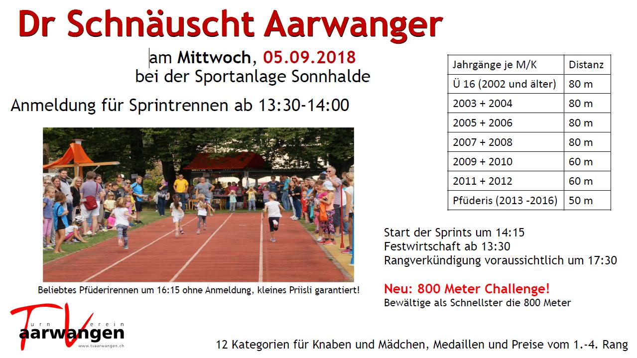 Flyer Schnaeuscht Aarwanger 2018
